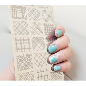 Nail Stamp Square Image Plate 13