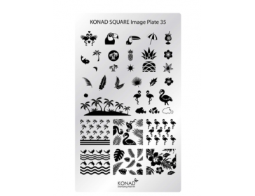 Square Image  Plate - 35 (Tropical)