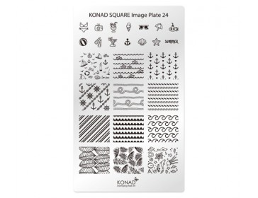 Square Image Plate -24 (Summer)