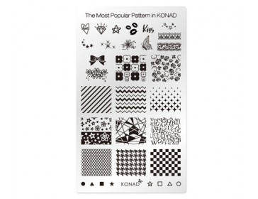 Square Image Plate - The Most Popular Pattern in KONAD